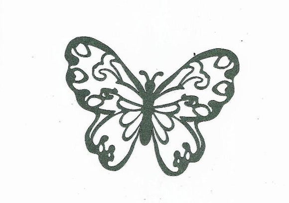 Beautiful butterfly silhouette set of 4