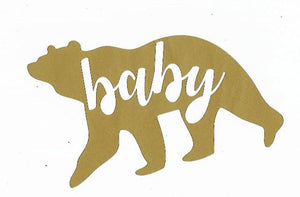 Baby bear silhouette