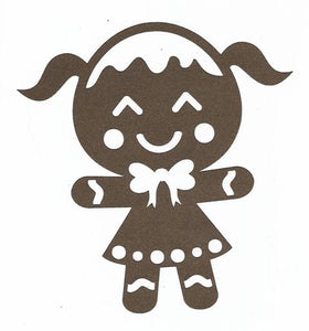Adorable Gingerbread girl silhouette