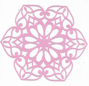Flower burst doily