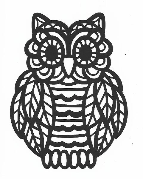 Decorative owl silhouette