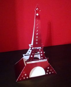 DIY Eiffel tower box centerpiece