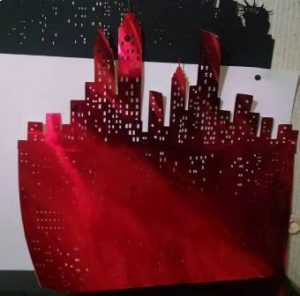 21 inch tall New York skyline two piece extra extra large