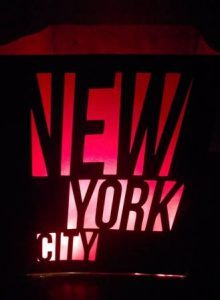 DIY New York city words centerpiece or luminary