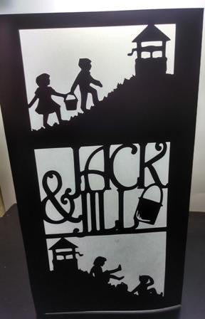Jack and Jill centerpiece / luminary