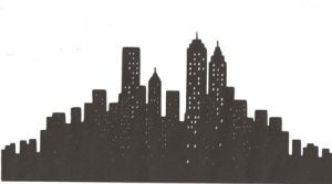 New York City Skyline silhouette large