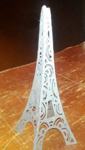 DIY 3D Decorative Eiffel tower the second