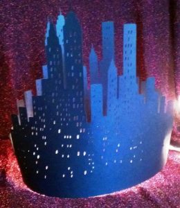 DIY New York skyline centerpiece