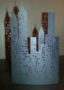 DIY New York City skyline stand alone.