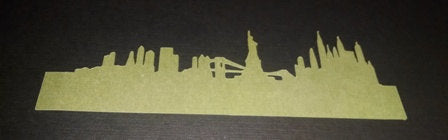 No glue New York city skyline napkin ring set of twelve
