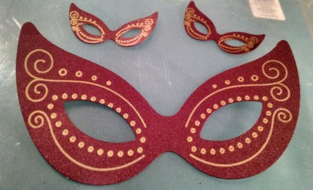 Masquerade mask cupcake toppers and silhouettes set of fourteen