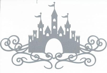 Castle with flourish silhouette