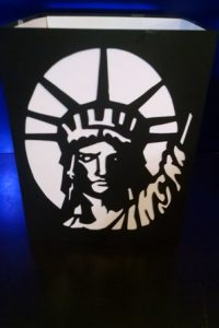 DIY Statue of Liberty luminary