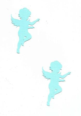Adorable angel cupcake toppers set twelve