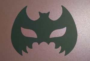 Bat mask silhouette set of two