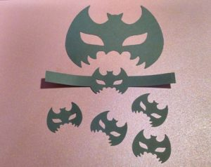 Bat mask cupcake toppers set of twelve