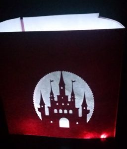 DIY Castle luminary centerpiece