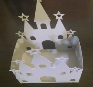 DIY castle box set of four