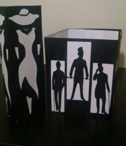 DIY high fashion lady centerpiece / luminary