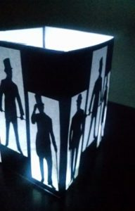 DIY men's fashion luminary / centerpiece