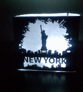 DIY New York grunge look centerpiece / luminary