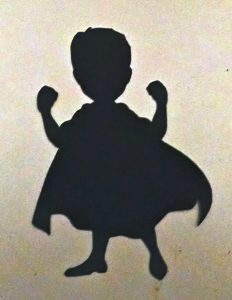 Super baby silhouettes / cake toppers set of four silhouettes