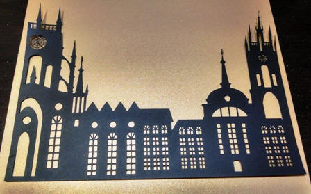 Beautiful castle silhouette/ centerpiece 7 x 11 inches
