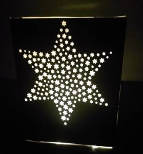 DIY Star of stars luminary / centerpiece