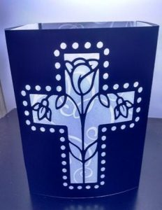 Beautiful cross centerpiece / luminary