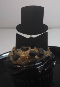 Top hat and bow-tie cupcake toppers set of twelve
