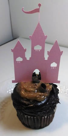 Castle cupcake toppers set of twelve