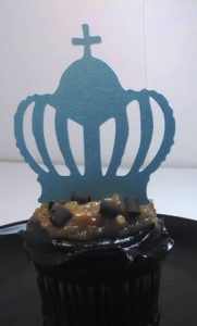 Big crown cupcake topper number one set of twelve