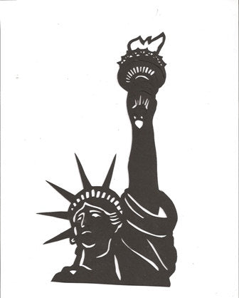 Statue of Liberty bust silhouette