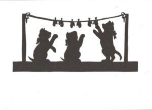 The three little kittens part 2 Mother Goose collection silhouette