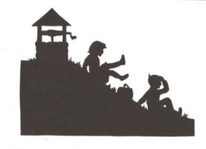 Jack and Jill part two Mother Goose collection silhouette