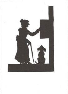Old Mother Hubbard Mother Goose collection silhouette