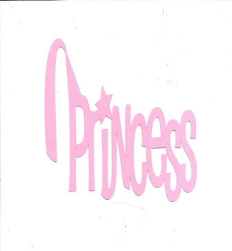 Princess word silhouette
