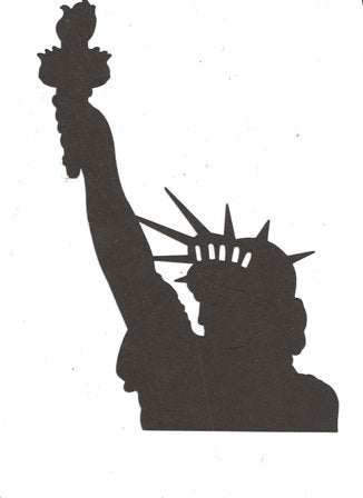 Bust of the Statue of Liberty silhouette