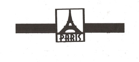 Paris with Eiffel tower napkin rings set of ten