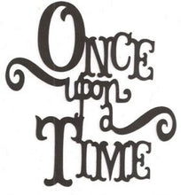 Once upon a time word silhouette