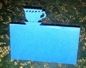 Tea cup place cards set of 6