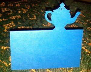 Tea pot place cards set of 6
