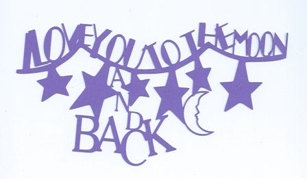 I love you to the moon and back fun word silhouette
