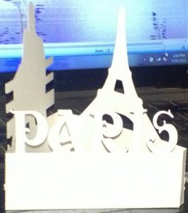 Eiffel tower Paris centerpiece