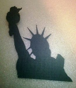 Statue of Liberty cupcake topper set of 24