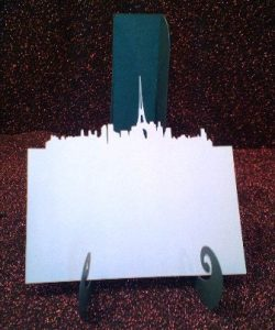 Paris skyline place card set, set of six