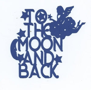 To the moon and back decorative word silhouette