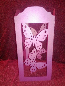 DIY Large butterfly centerpiece / lantern