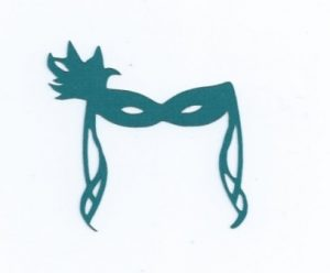 Masquerade mask cupcake toppers set of 24