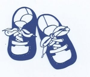 Baby shoes silhouette